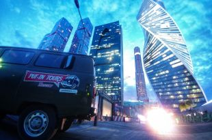 Visite Moscou by night en UAZ