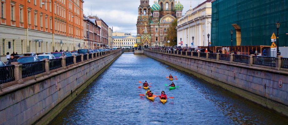 Centre-ville en kayak - Saint Pétersbourg