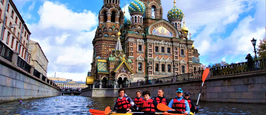 Tour de ville en kayak - Saint Pétersbourg