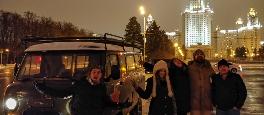 Visite Moscou by night en UAZ | Tsar Voyages