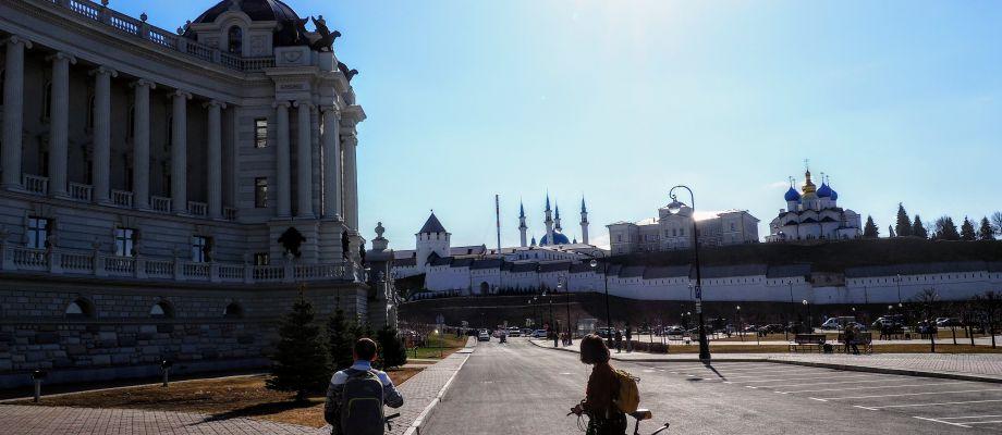 Kazan - Palais des Agriculteurs et Kremlin