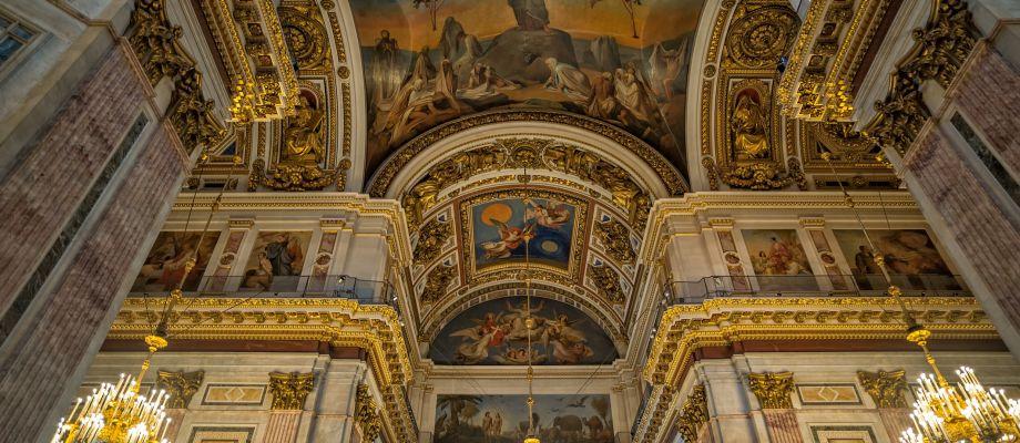 Saint-Pétersbourg - Les fresques de la cathédrale Saint-Isaac